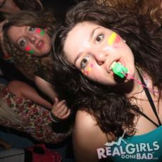 British girls raving to the music