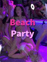 A wild beach party