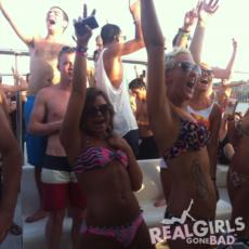 Girls partying in bikinis