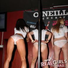 Will these girls dare to pull their panties down when they get asked by the DJ?