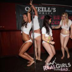 Real British Girls on Stage in a Wet T-shirt Competition