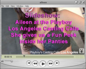 A Fun Peek inside AIleen's Panties at the Playboy Los Angeles Casting Calls