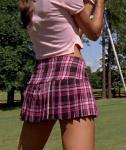 Jana Kramer from One Tree Hill in a Mini Skirt (Playing Golf)
