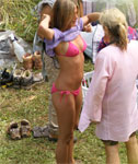 Jennifer Aniston in a Tight Pink Bikini (revealing)
