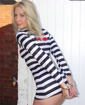 Prisoner Hazel in Tight Revealing Outfit