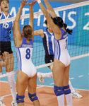 Greek Volleyball Team in Tight Leotards – Non Nude