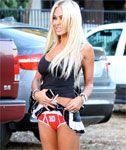 Shauna Sands Lifts her Skirt