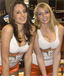 Hooters Cuties Showing Off