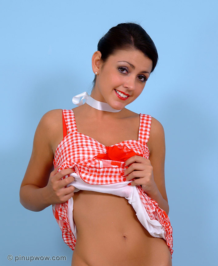 Bryoni is a Teasing Pin Up Girl