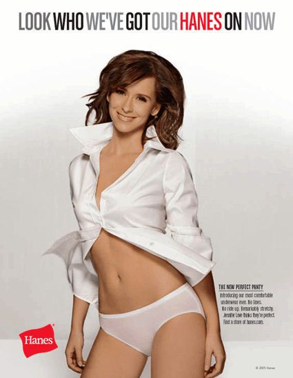 Jennifer Love Hewitt in White Knickers