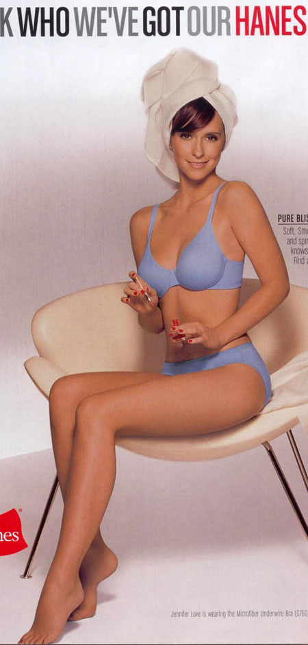 Jennifer Love Hewitt in Blue Bra & Panties