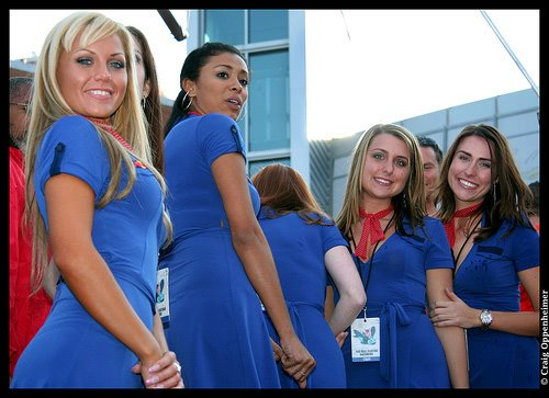 Cute Air Hostesses Smiling for the Camera
