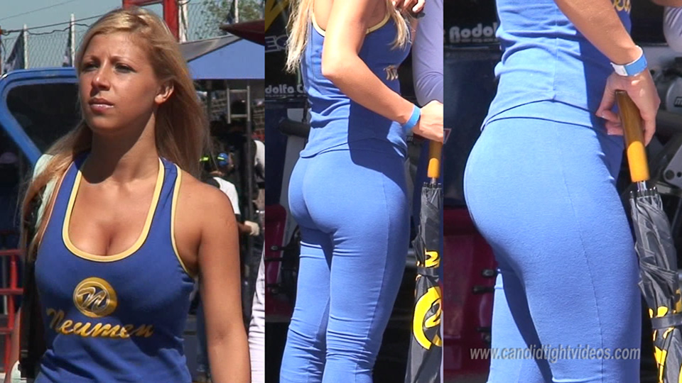 Tight Car Show Babe with Curvy Ass
