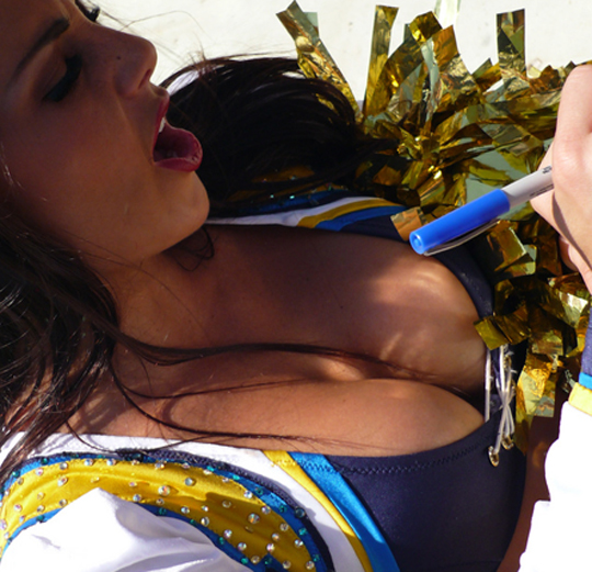 Oops Cheerleaders Downblouse - San Diego Chargers