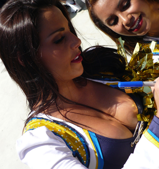 Sexy Cheerleader Downblouse