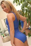 Cute Blue Swimsuit Girl