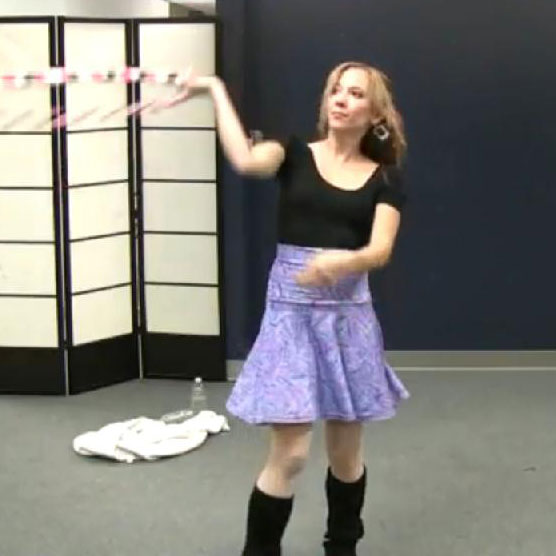 Cute Hula Hoop Girl Amy