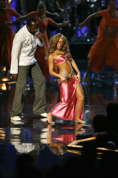 Shakira On Stage in a Pink Dress