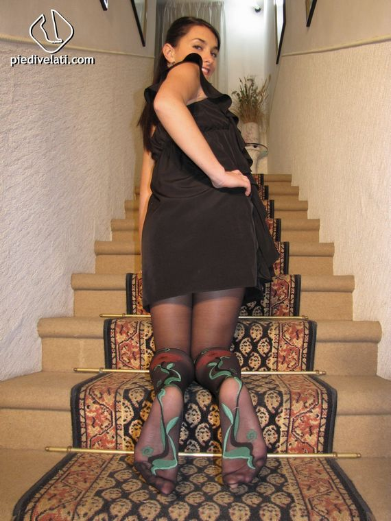 Italian Girl on the Stairs