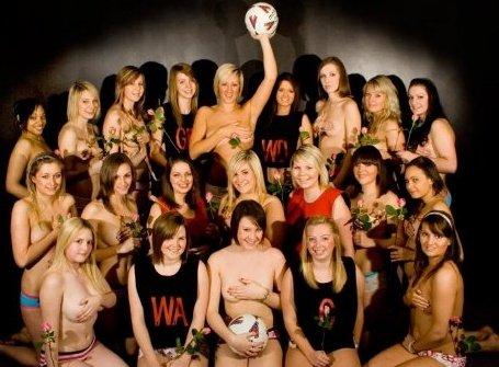De Montford Netball Team - Naked Calendar
