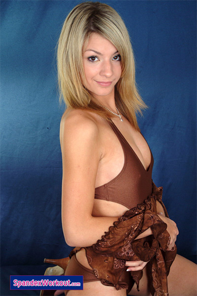 Juliet in her Bronze Leotard