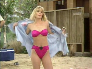 Pink Bikini Fun - Christina Applegate