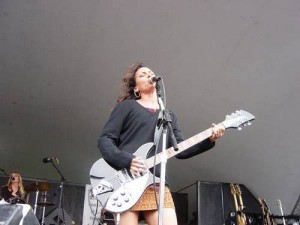 Susanna Hoffs Upskirt on Stage