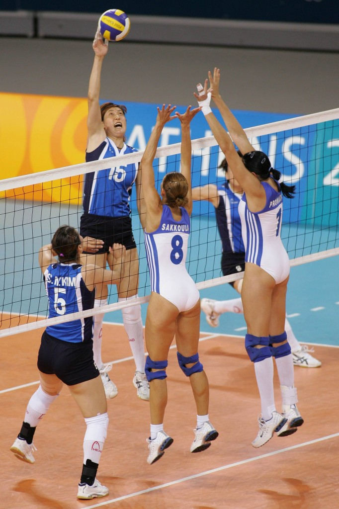 Greek Volleyball Girls in Leotards