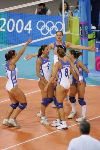 Greek Volleyball Girls in Tight Revealing Leotards