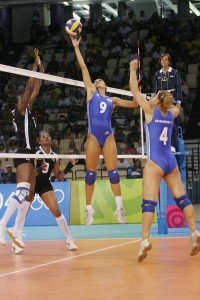 Stretching Volleyball Cameltoe