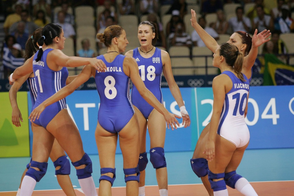 Non Nude Greek Volleyball