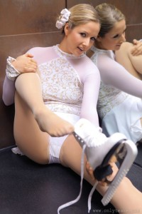 Tight White Panties - Ice Skater