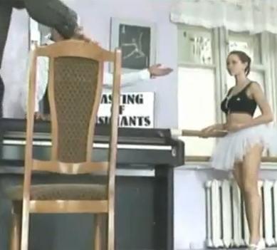 Funny Ballet Dancer Upskirt