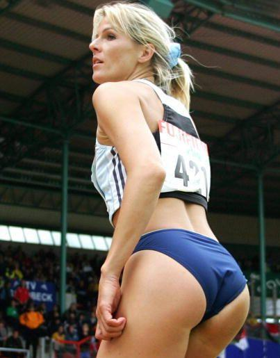 Athlete Sexy Ass in Tight Sports Knickers