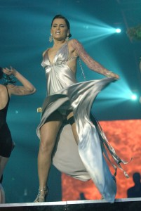Nelly Furtado Upskirt On Stage in Copenhagen - Tight White Panties