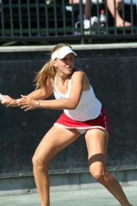 Tennis Upskirt Fun - White Panty
