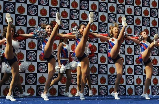 High Kicking Cheerleaders