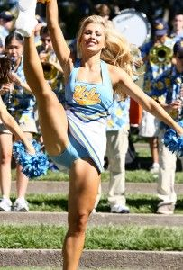 Superb Upskirt - Kicking Cheerleader with Tight Revealing Panties