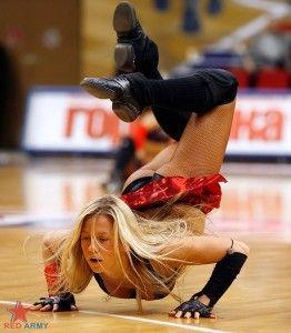 Cheerleader Downblouse Fun