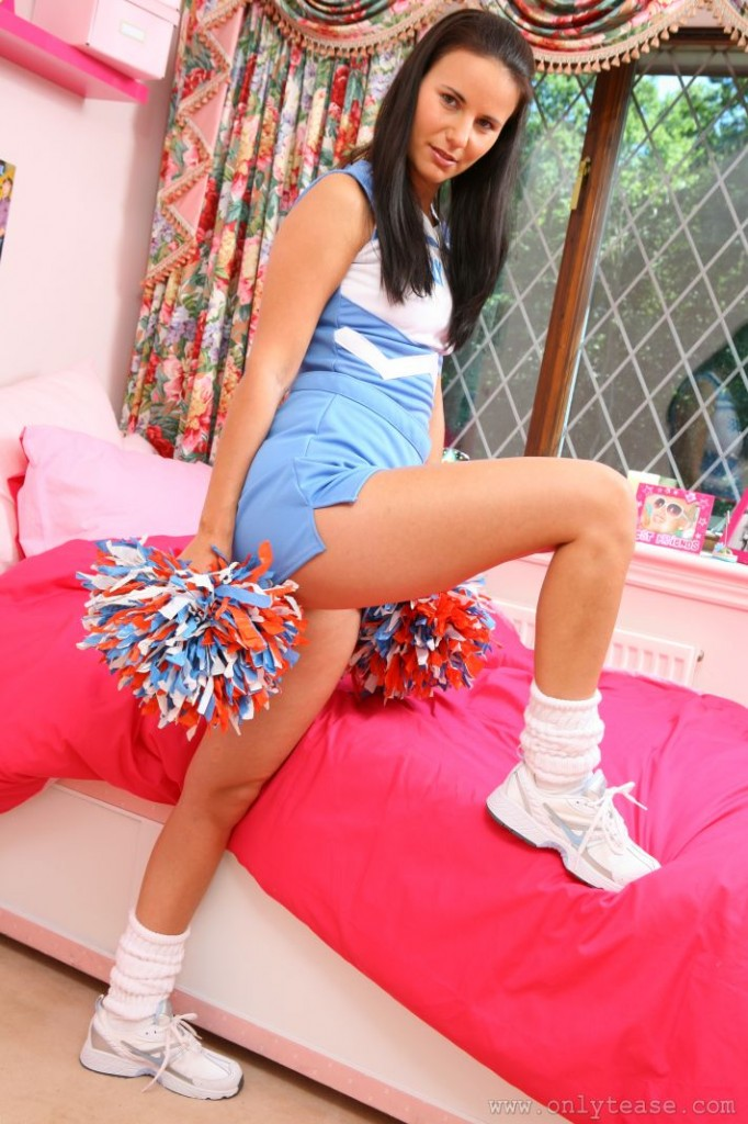 Cheerleader in her Bedroom