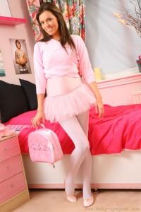 Pink Pantyhose Cutie