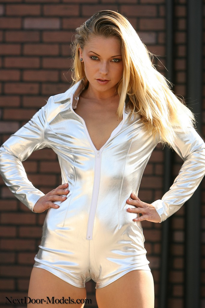 Tight Silver Jumpsuit - Non Nude