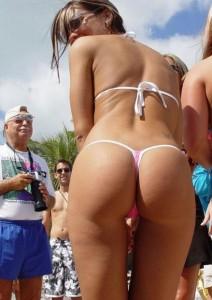 Bikini Thong Ass Candid