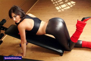 Spandex Workout Babe