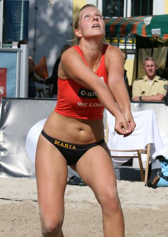 Sporty Volleyball Candid - Non Nude