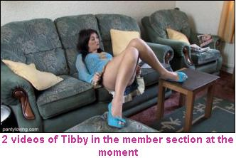 Tibby Oops Upskirt on the Sofa