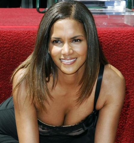 Halle Berry Downblouse