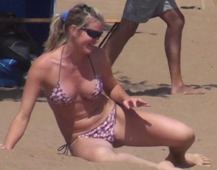 Beach Volleyball Bikini Candid