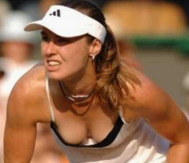 Martina Hingis Downblouse