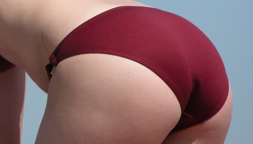 Close Up Bikini Ass Candid